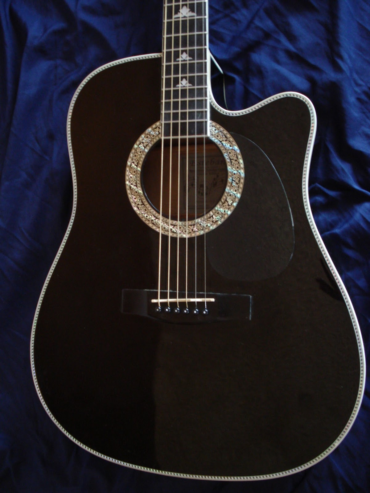socal gear museum 2006 esteban black silver acoustic electric guitar. Black Bedroom Furniture Sets. Home Design Ideas