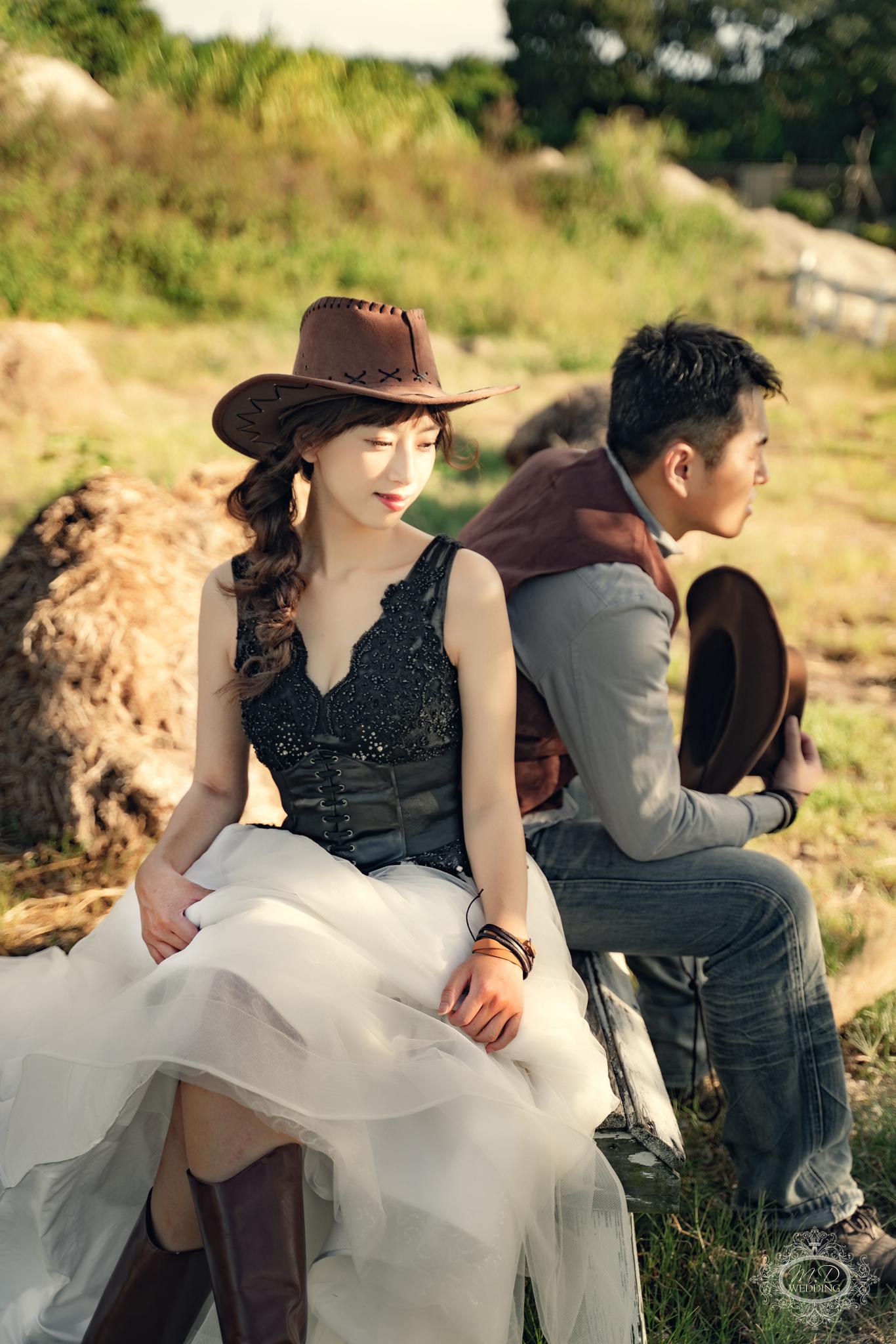 牛仔婚紗 淡水莊園婚紗基地 浪漫風格 逆光婚紗 唯美風 台北婚紗推薦 韓系小清新婚紗