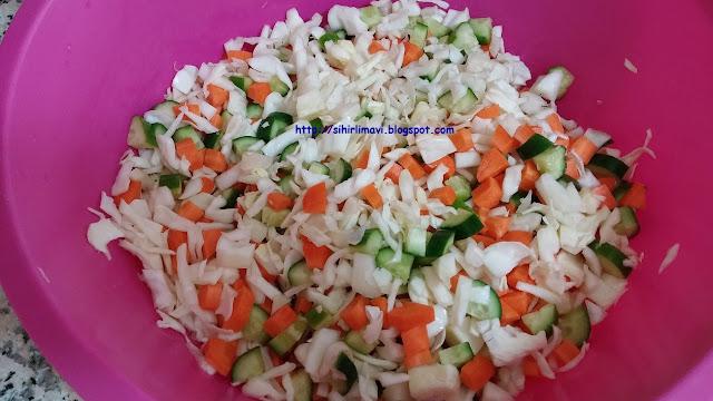 turşu, kış hazırlıkları, blog, blogger, lahana, havuç, salatalık