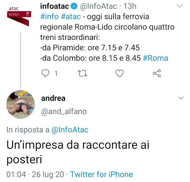 "Atac e Roma Lido: aritmetica ""ad usum Delphini"""