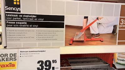 snijmachine laminaat en vinyl vloer