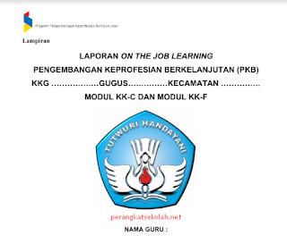 Download Format laporan On The Job Learning (OJL) Lembar Kerja (LK) PKB Guru Kelas Bawah dan Atas SD