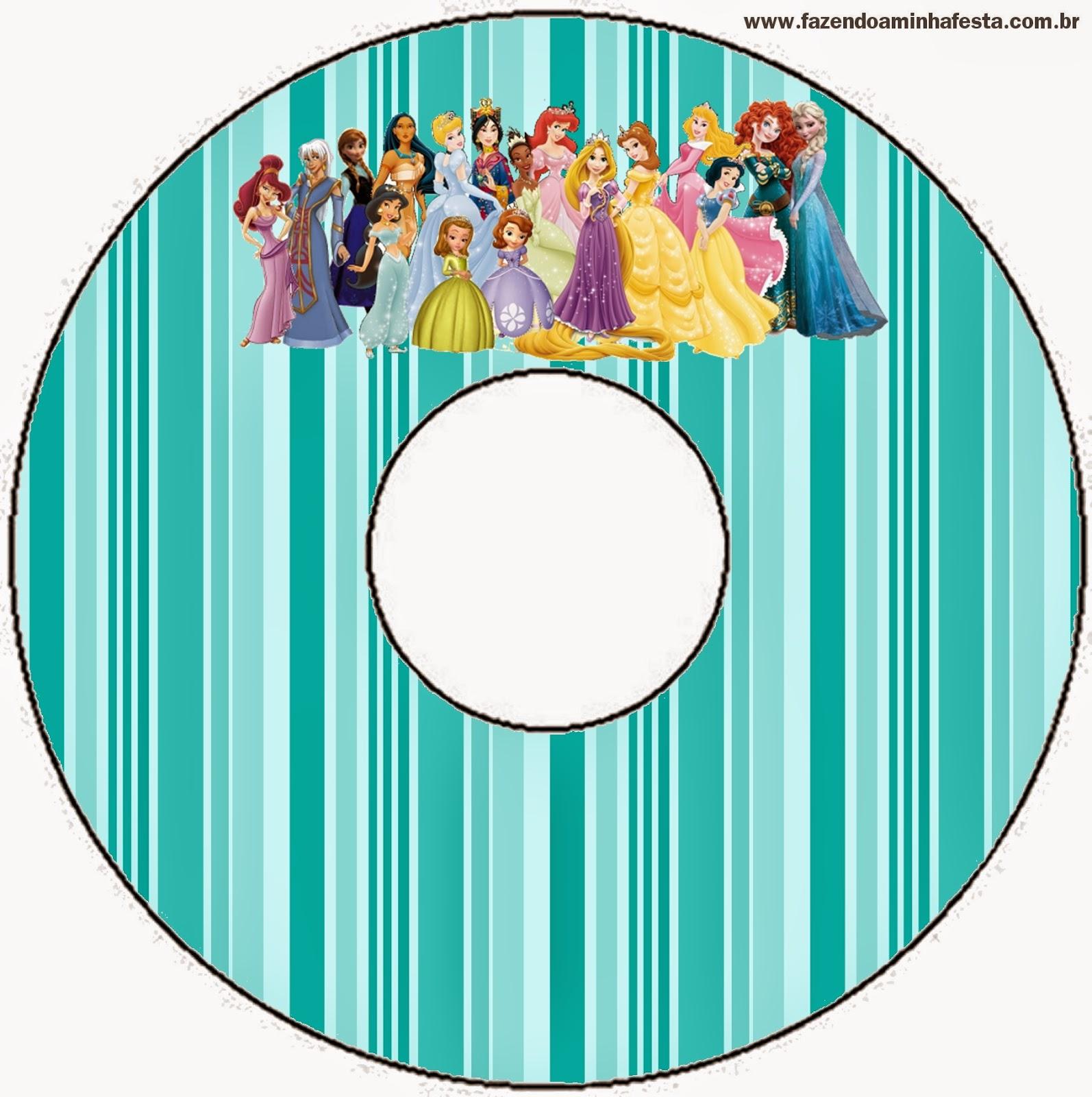 Etiquetas de Todas las Princesas Disney para CD's