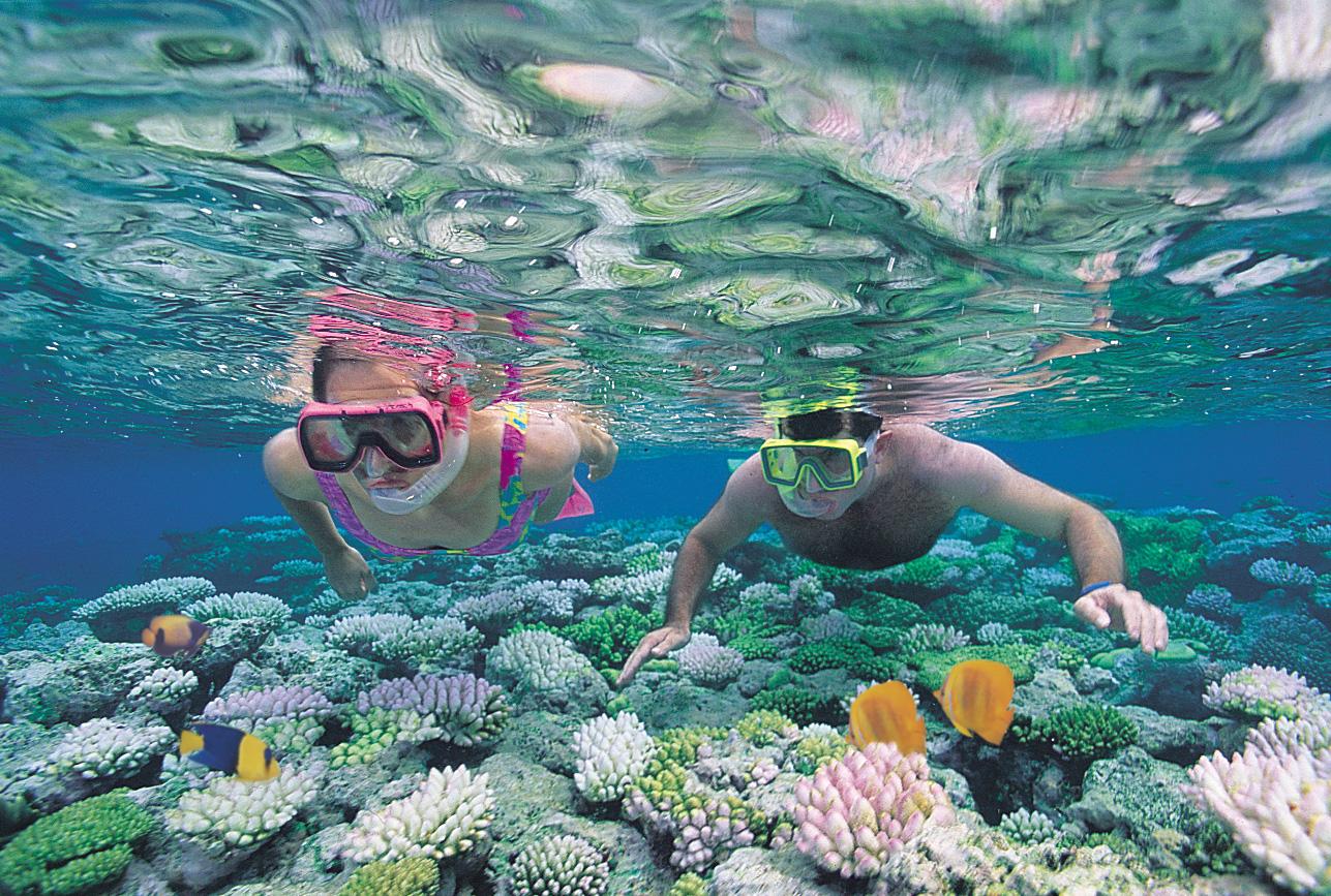Ныряние с трубкой, Барьерный риф на Багамах