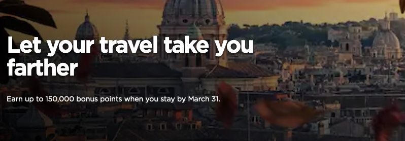Radisson Rewards - Earn up to 150,000 Bonus Points on your stays worldwide until March 31