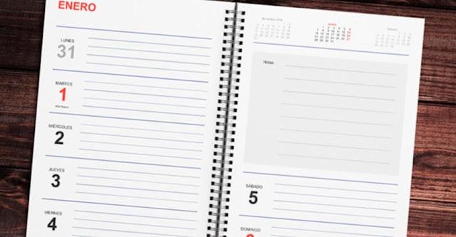 Calendario Diario Para Imprimir 2019.La Mejor Agenda Semanal 2019 Gratis Para Imprimir