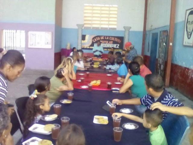 Casa de la cultura popular Alí Rodríguez ofreció su acostumbrado desayuno entre artistas y cultores