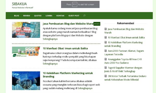 review blog sibakua