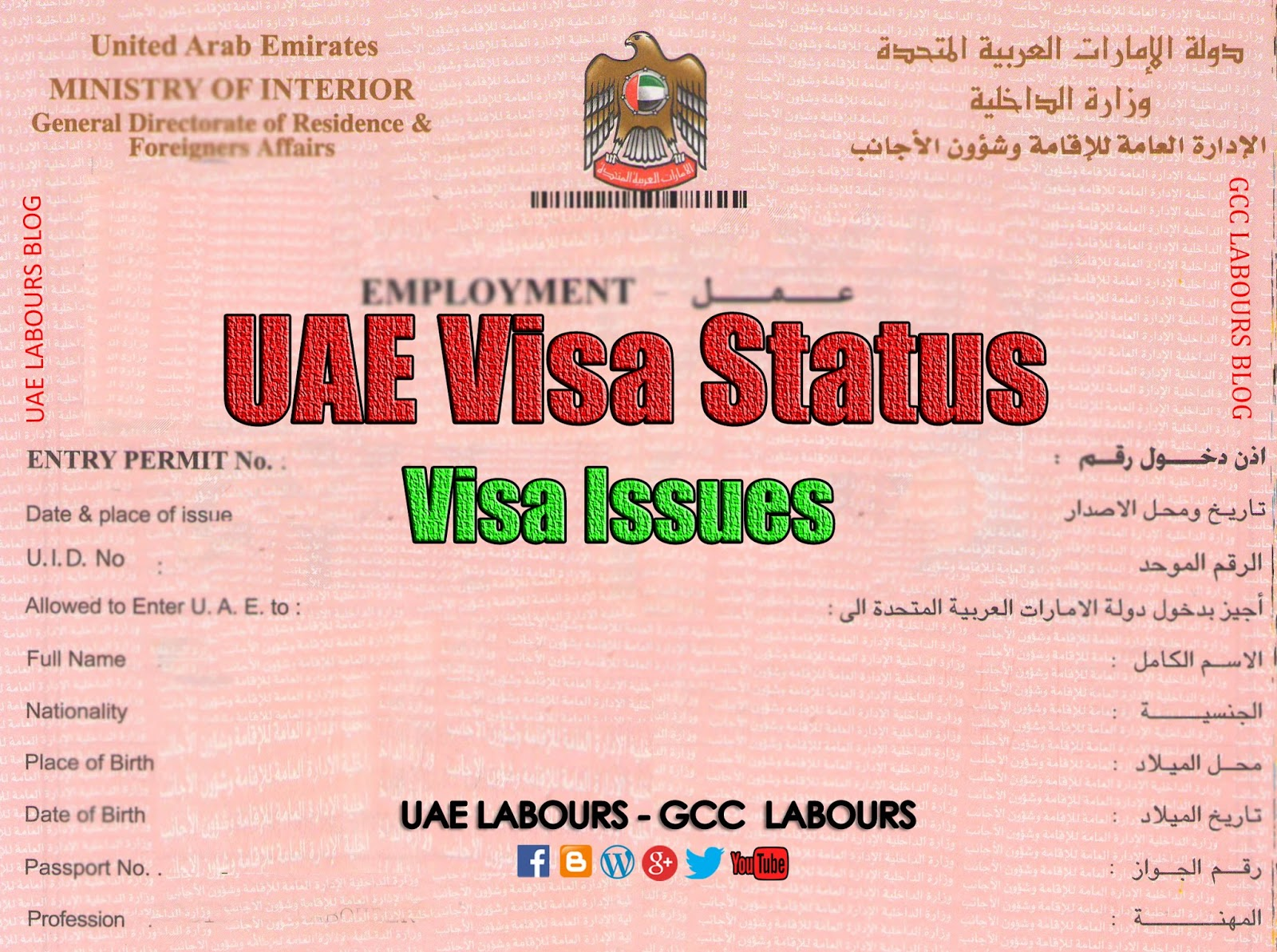 work visa application status
