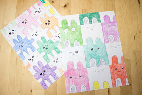 How to Draw Bunny Tessellations- A FUN STEAM kids Mathematics activity for Easter