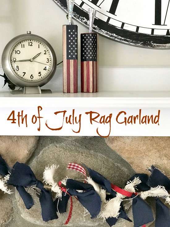 clock , firecrackers and rag garland with overlay