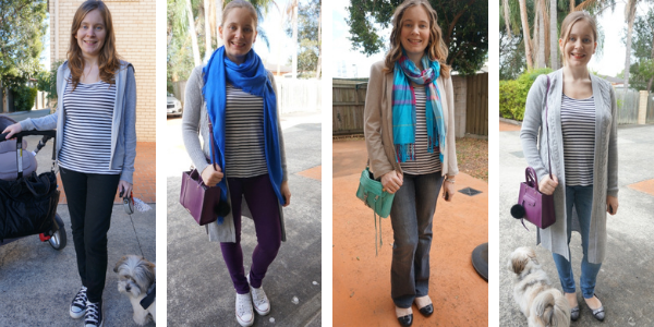 4 ways to layer a striped tank for winter outfit ideas | awayfromtheblue
