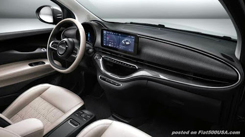 new fiat 500e dashboard