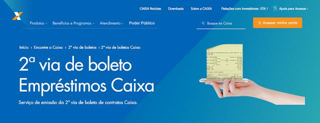 2Via Boleto Empréstimos CAIXA