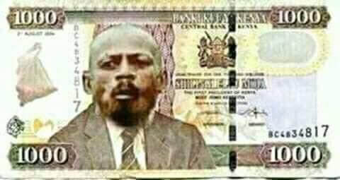 Creative Kenyan Photoshop the Githeri man on the Kenyan Currency.