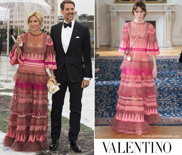 Crown Princess Marie Chantal wore Valentino Dress from Resort 2017 Collection