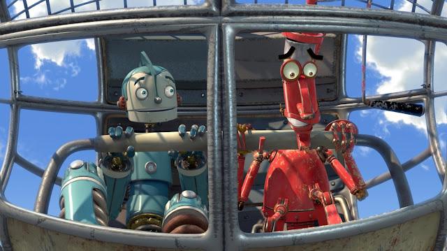 Imagen render en 3D de la película Robots