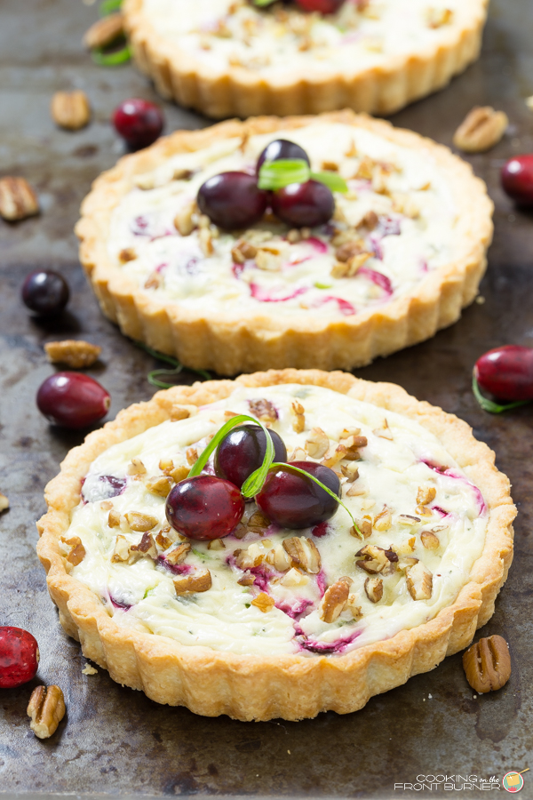 Cranberry Gorgonzola Tart | Cooking on the Front Burner
