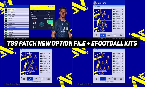 PES 2017 T99 Patch New Option File 2021-2022