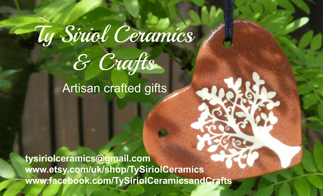 Ty Siriol Ceramics & Crafts business card and branding