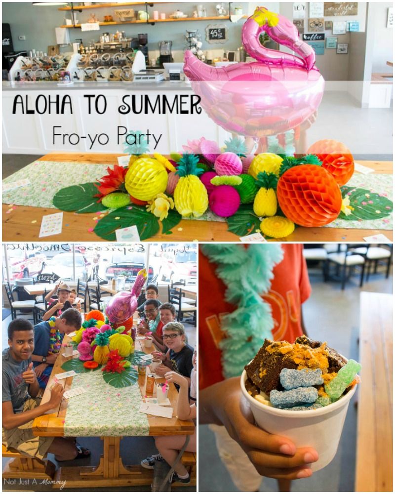 Aloha To Summer Fro-Yo Party