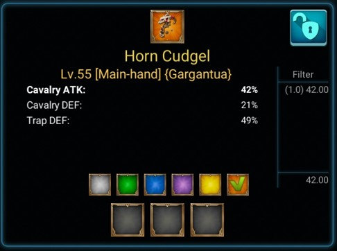 Gear Horn Cudgel game lords mobile
