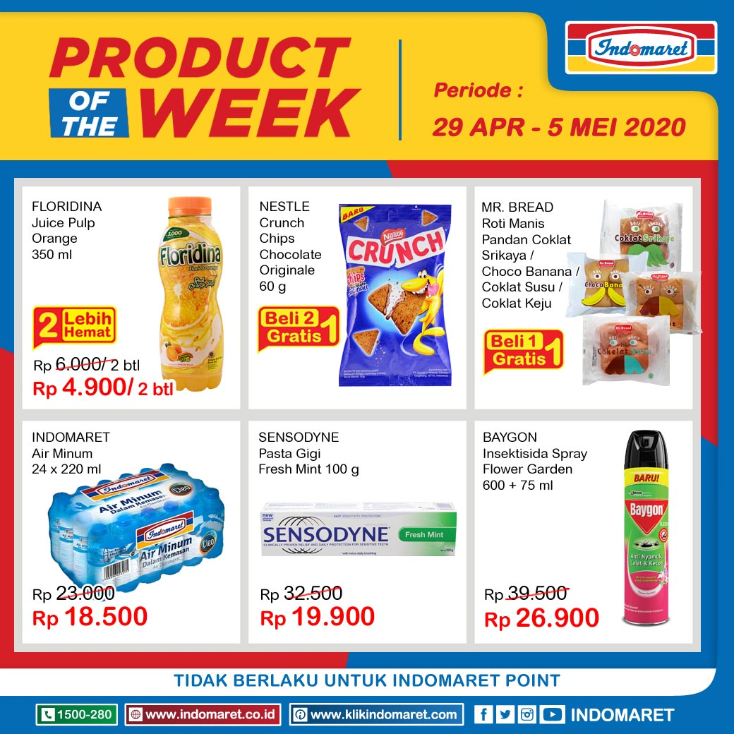 Promo Indomaret Heboh Product Of The Week Ptw 29 April 5 Mei 2020 Scanharga