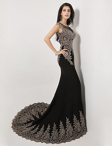 eb15960d7d5e Vestido de Noche Sirena Fiesta Formal Negro | Vestidos de Fiesta Baratos