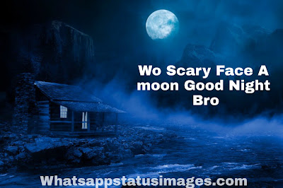 Wo Scary Face A Moon Good Night Bro Pic