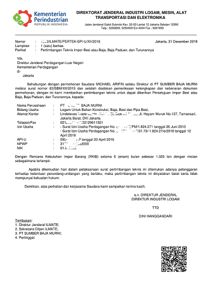 Cara Buat Izin Pi Persetujuan Impor Besi Baja Dan Laporan Surveyor Indonesia Undername Import Export Blog