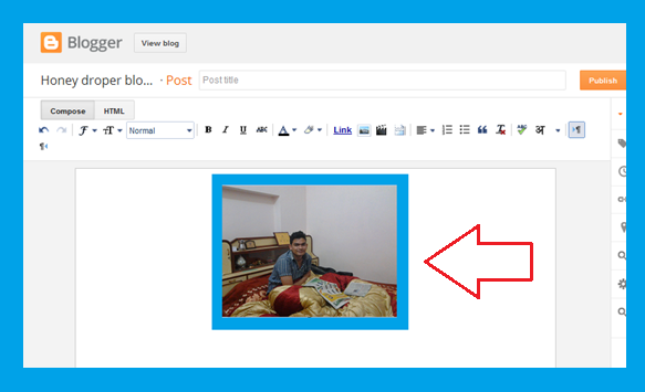 Blogger Post editor image uploaded