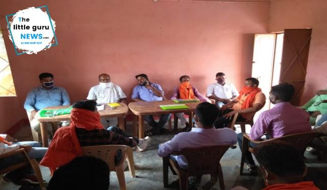 वर्चुअल रैली की सफलता को लेकर भाजपा कार्यकर्ताओं की बैठक