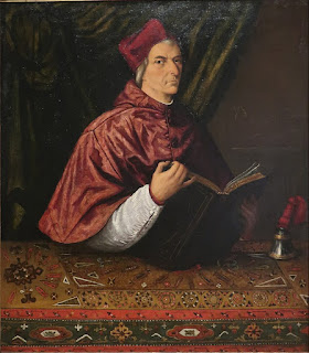 Lorenzo Lotto's portrait of Cardinal Domenico Grimani, painted in the 16th century