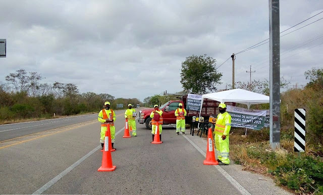 Centro SCT Yucatán tiene auxilio vial esta Semana Santa 2021