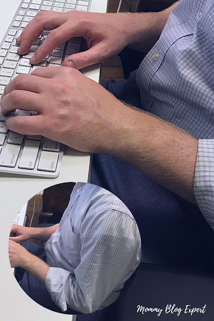 Man Working at Home Desktop Computer