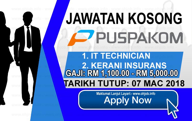 Jawatan Kerja Kosong PUSPAKOM Sdn Bhd logo www.ohjob.info mac 2018