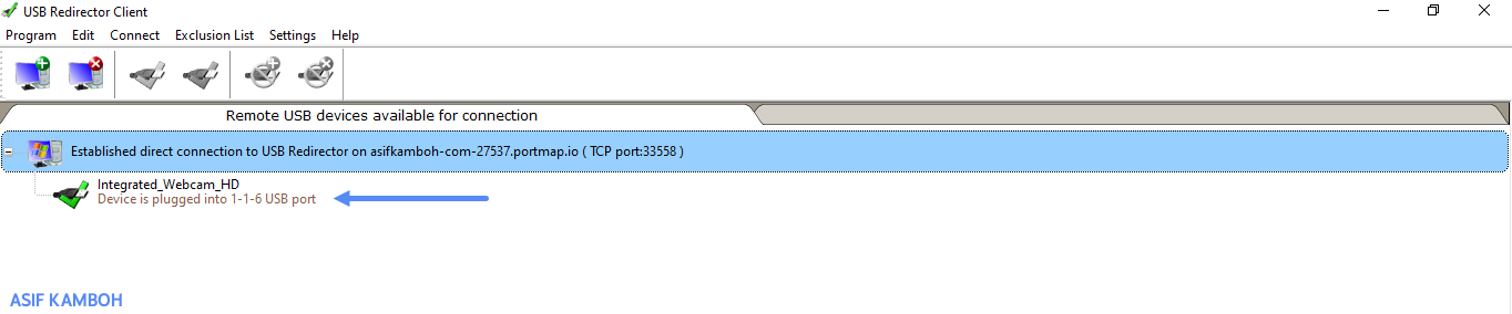 When the USB port is connected to your computer, it will be marked with a correct USB icon.