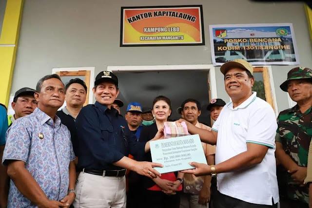 GSVL Serahkan Bantuan kepada Sejumlah Korban Banjir Bandang di Wilayah Kab Kepulauan Sangihe