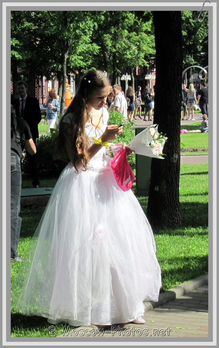 Moscow Bride With Flowers