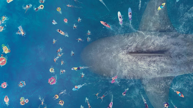 Megalodon on Crowded The Meg Movie 2018