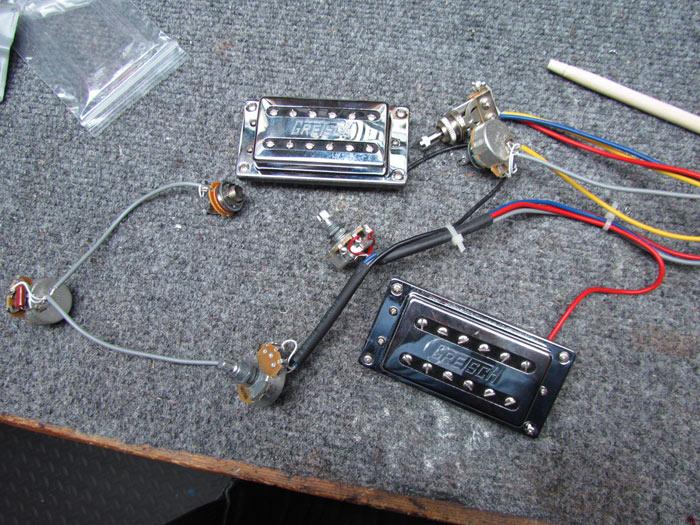 gretsch g5120 upgrades: tv jones pickups, new wiring ... one pickup guitar wiring harness