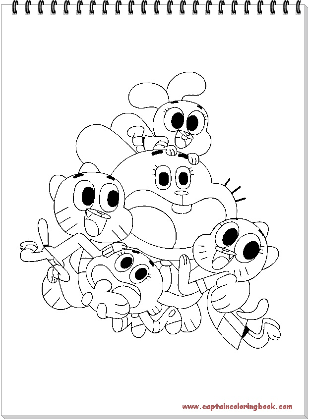 Amazing World Of Gumball Coloring Pages Coloring Page
