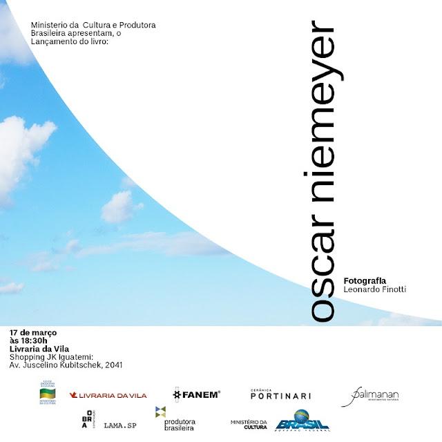 lançamento do livro Oscar Niemeyer: vida e genialidade. Post de divulgação do lançamento publicado pelo blog Carina Pedro.