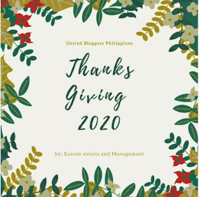 United Bloggers Philippines Thanksgiving Virtual Party 2020