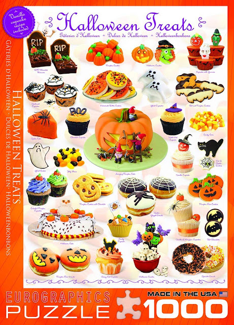 Love Halloween, Halloween treats and working jigsaw puzzles? If so, you will love this Halloween Treats jigsaw puzzle!
