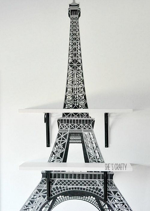 paris themed room decor, shelves, wall shelves, storage for kids room