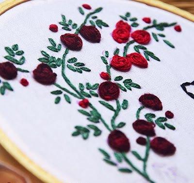 Hướng dẫn thêu hoa hồng leo - Hình 12