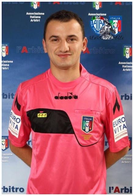 Eduart Pashuku, arbitro albanese della partita Lecco-Grosseto