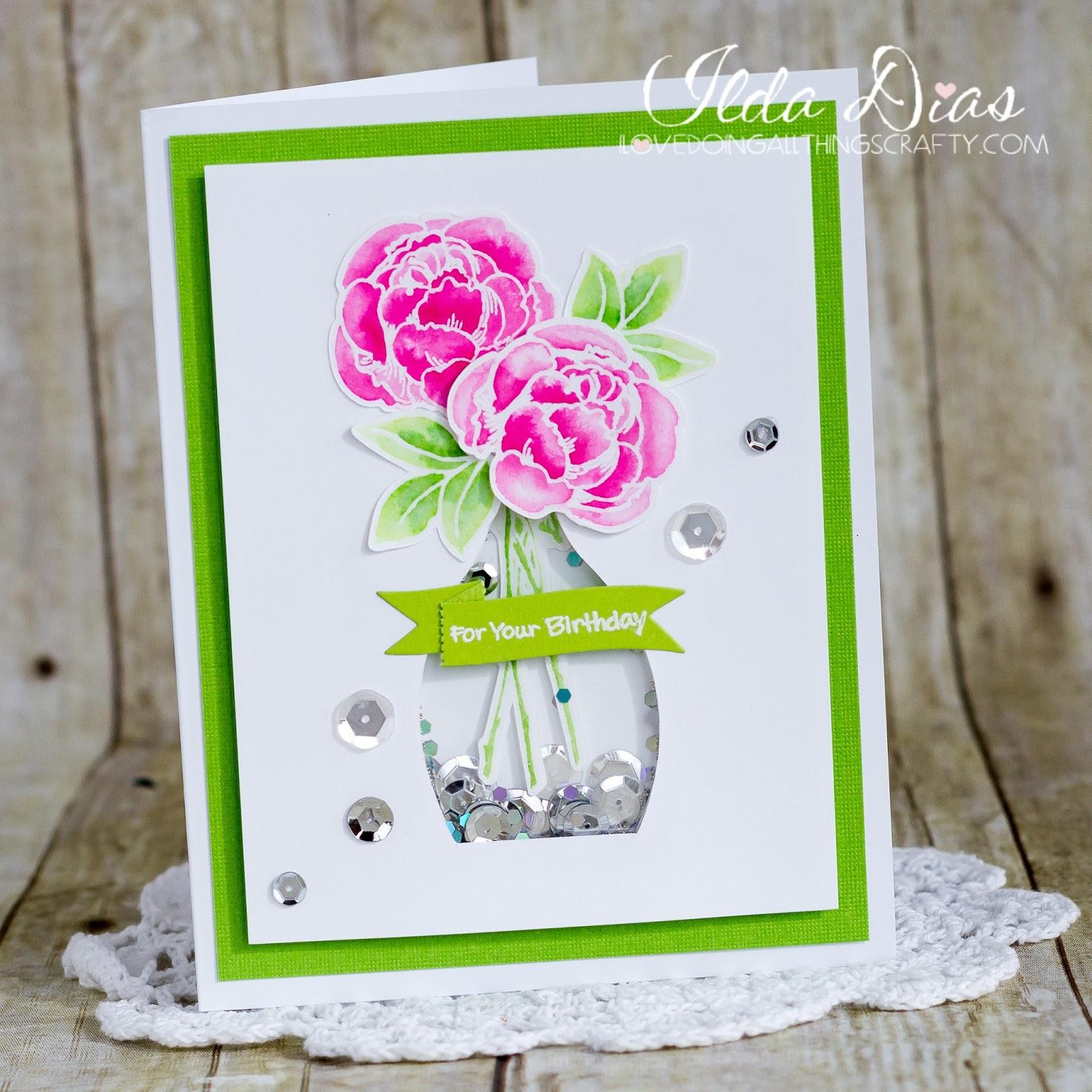 I love doing all things crafty diy flower vase shaker card diy flower vase shaker card izmirmasajfo