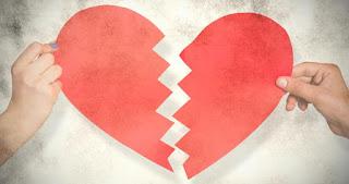 Coração partido ao meio